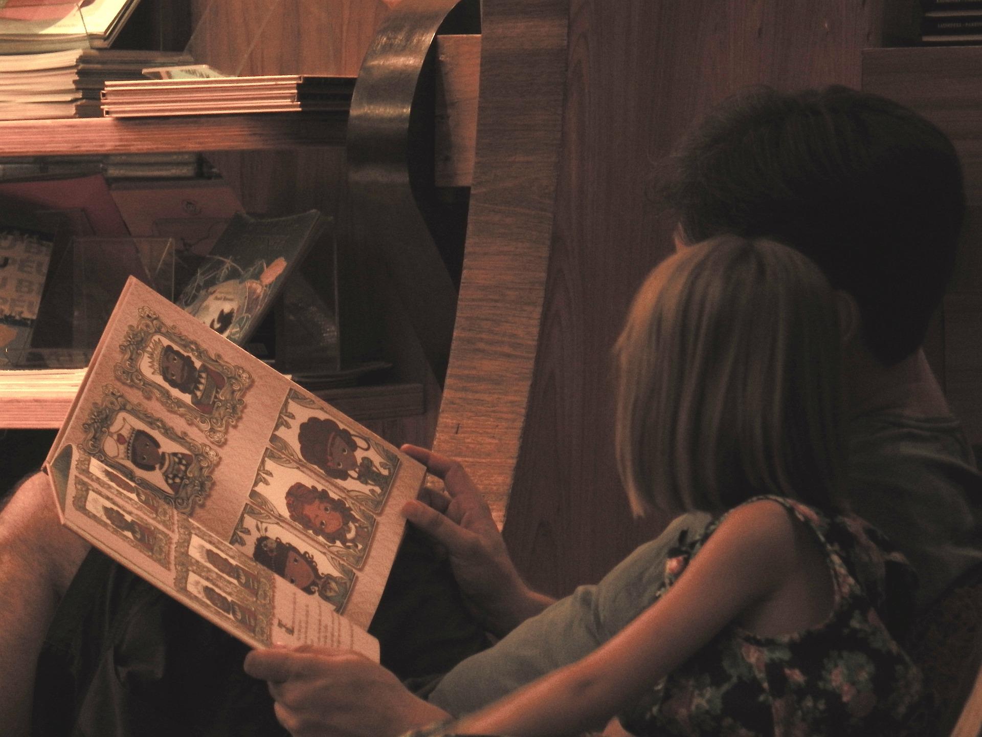 Ler com as crianças mais tempo para filhos