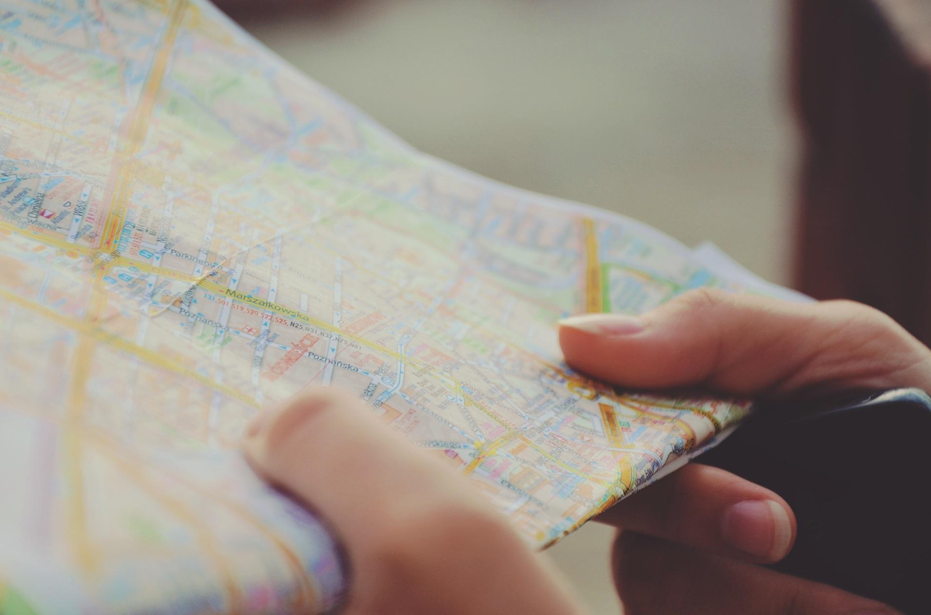Dê preferência a mapas - Mochilão na América do Sul