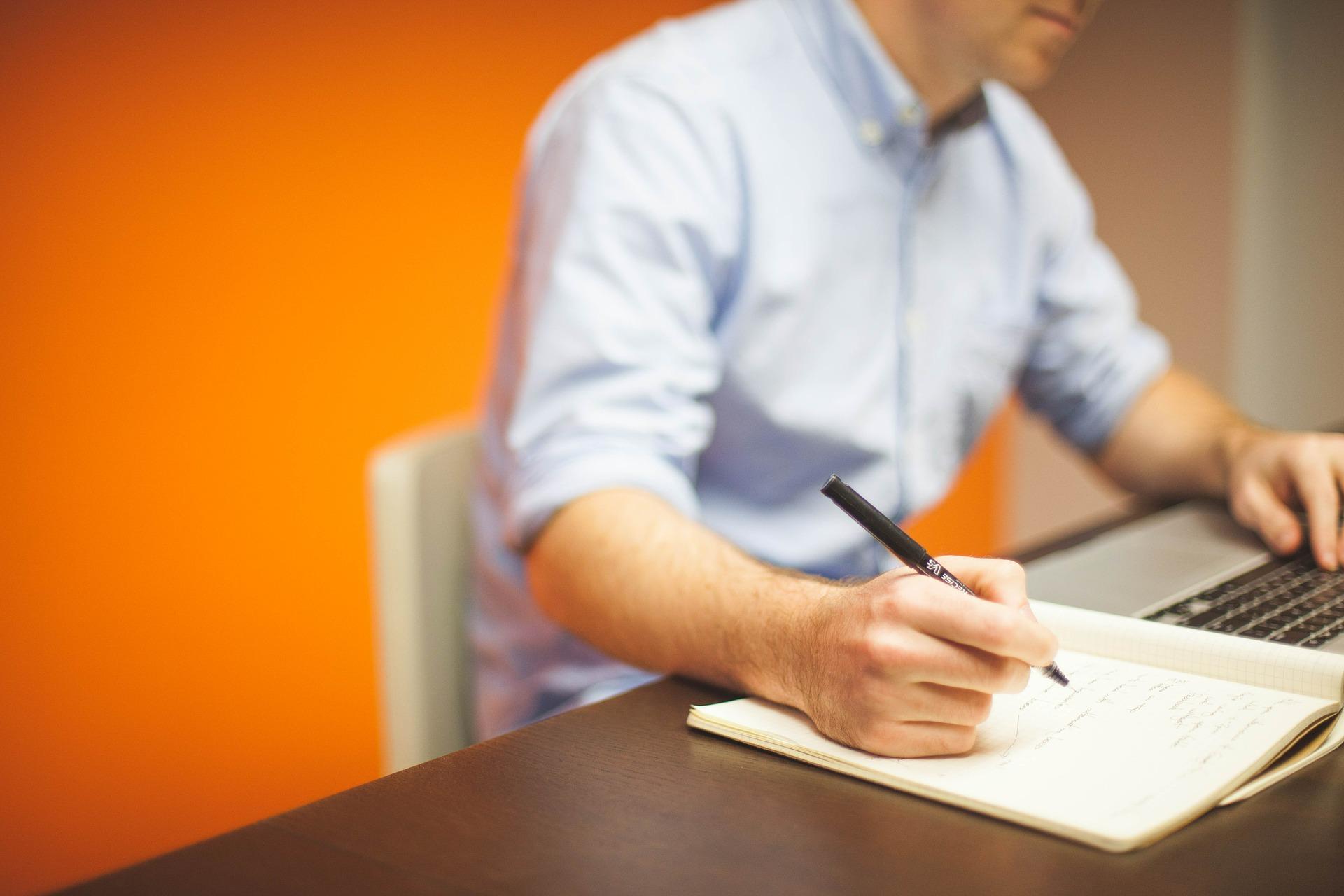 Hábito de escrever para tempo disponível durante o dia