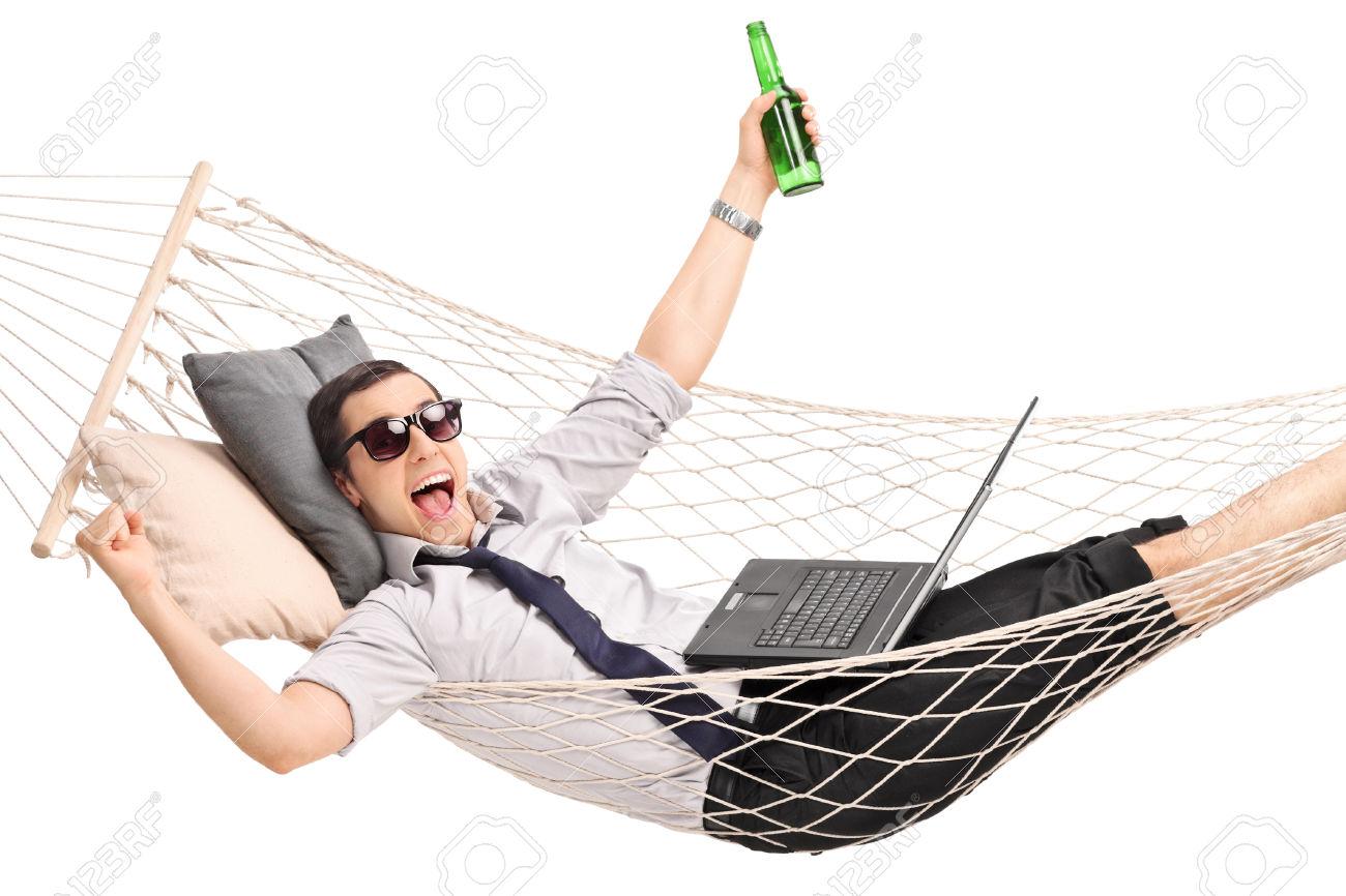 trabalhando feliz da vida
