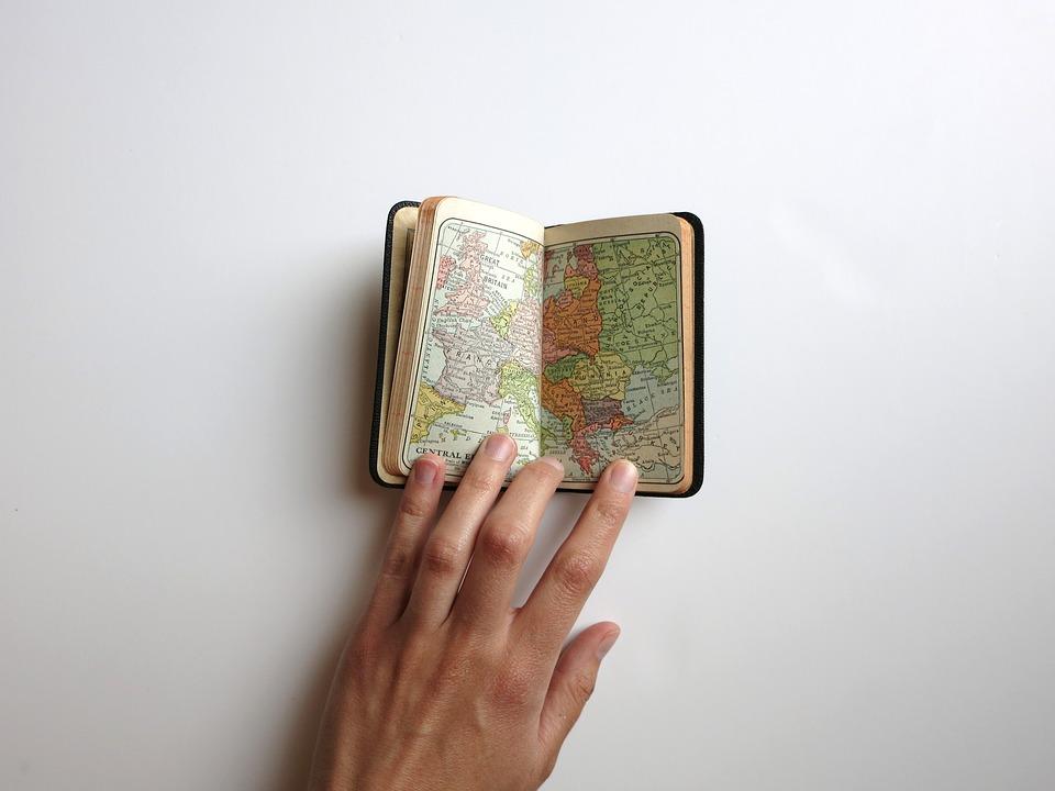Palavra, Mapa, Mão, Viagens