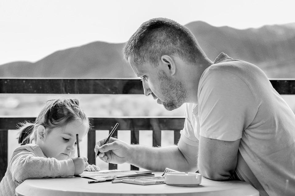 tempo para os filhos - pai e filha