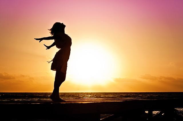 vida mais feliz por do sol