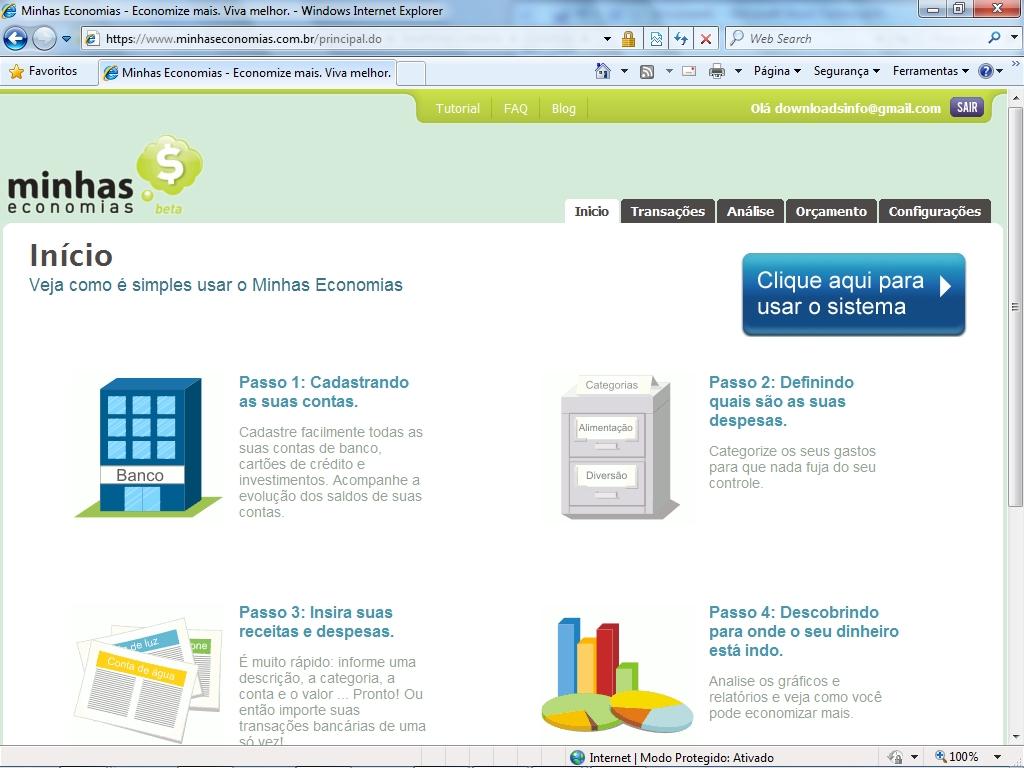 Minhas Economias - aplicativos finanças pessoais