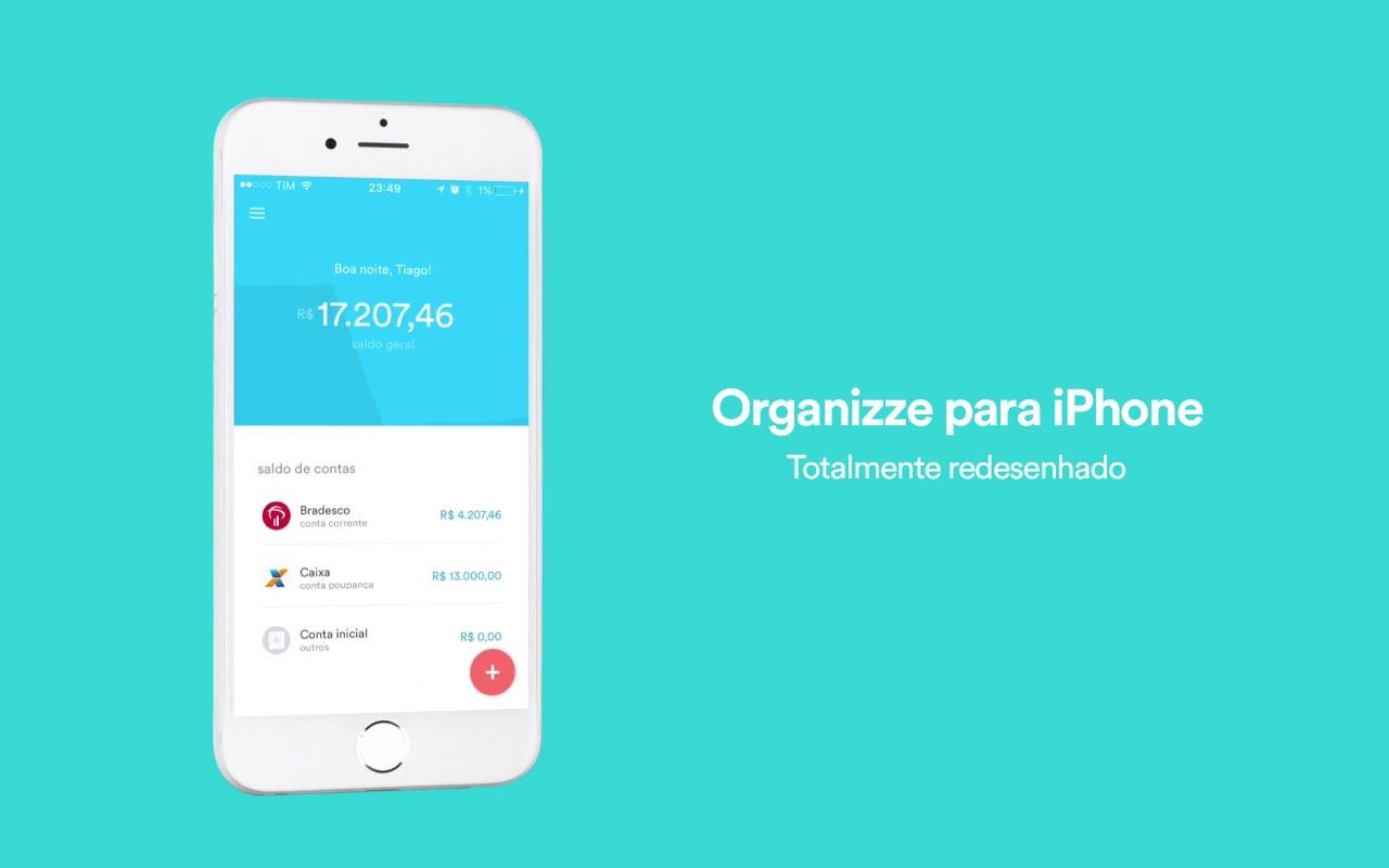 Organizze - aplicativos de finanças pessoais