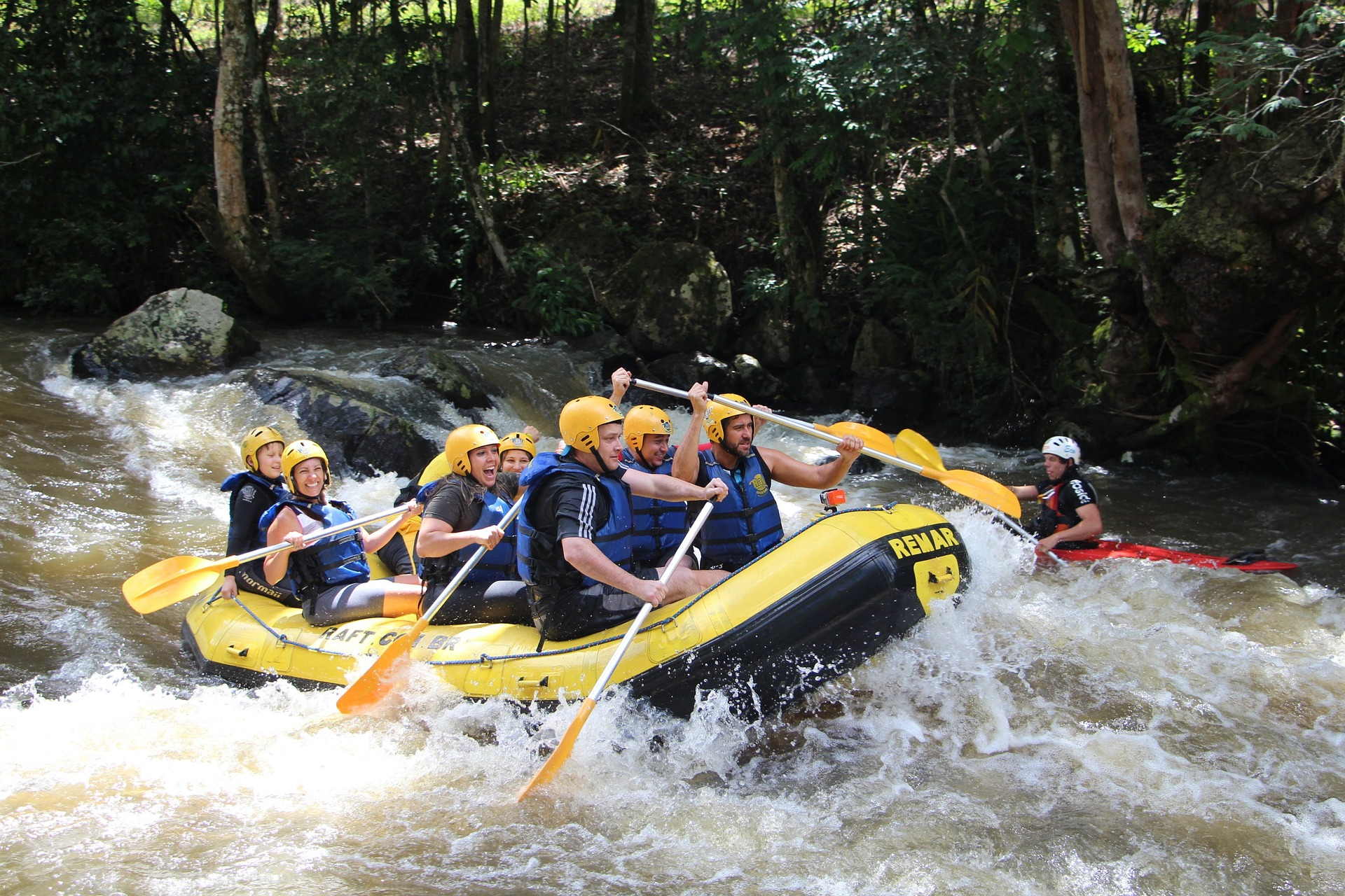 Rafting - esportes radicais no Brasil
