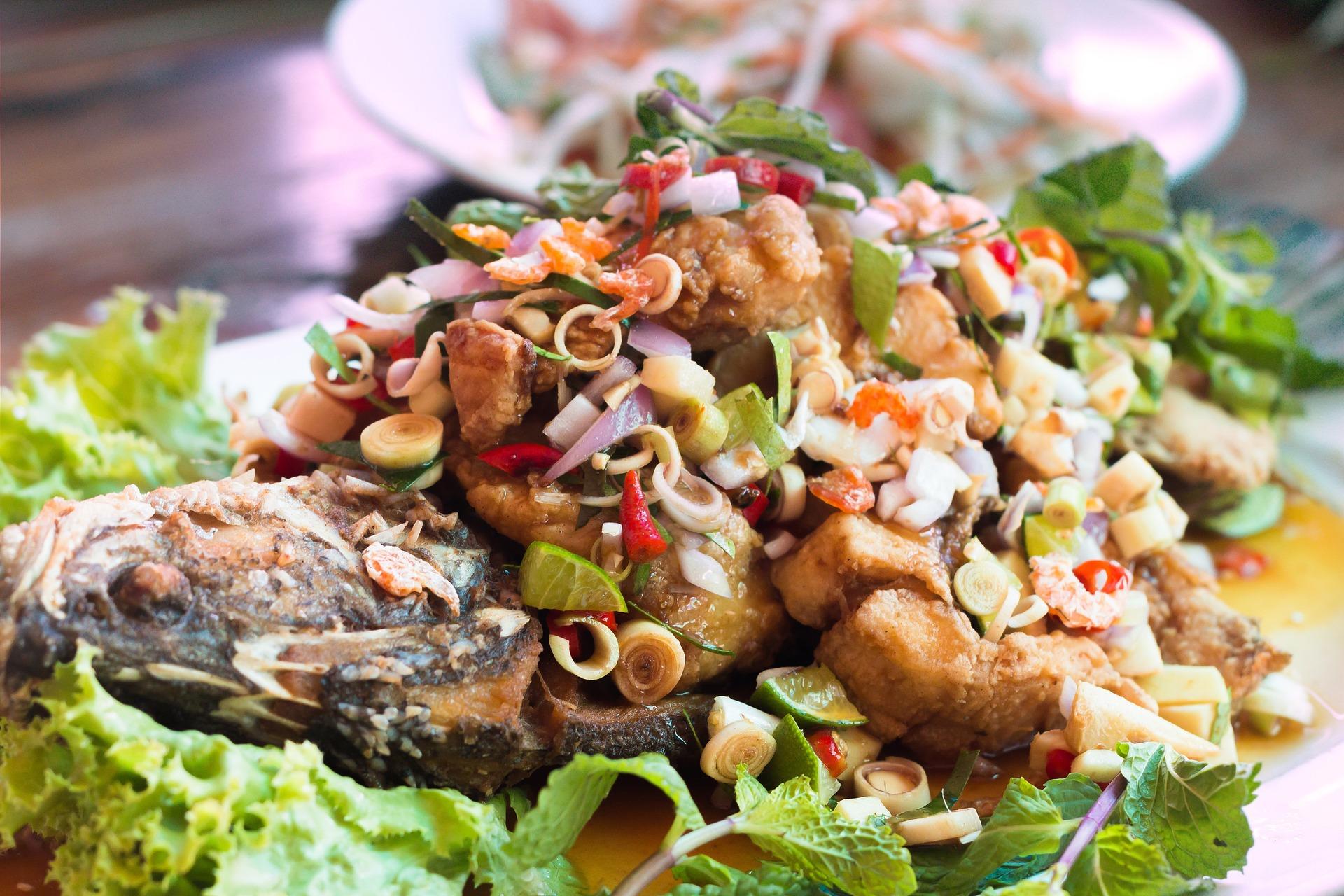 Comida a base de frutos do mar