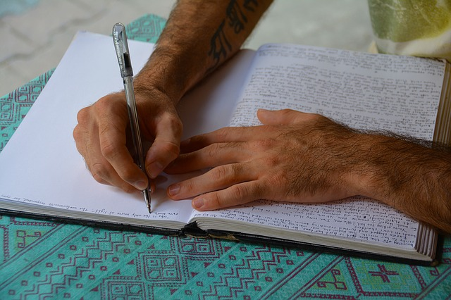 manter a concentração com a escrita
