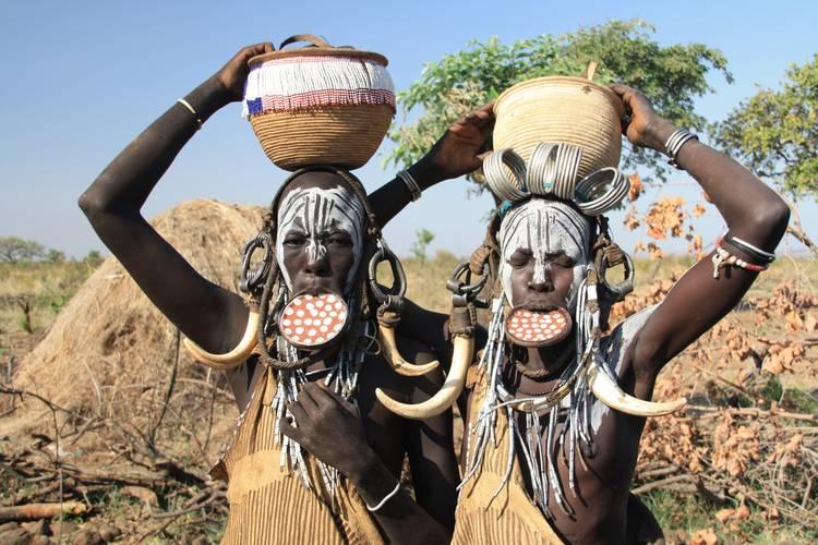 Tribo Mursi na Etiópia