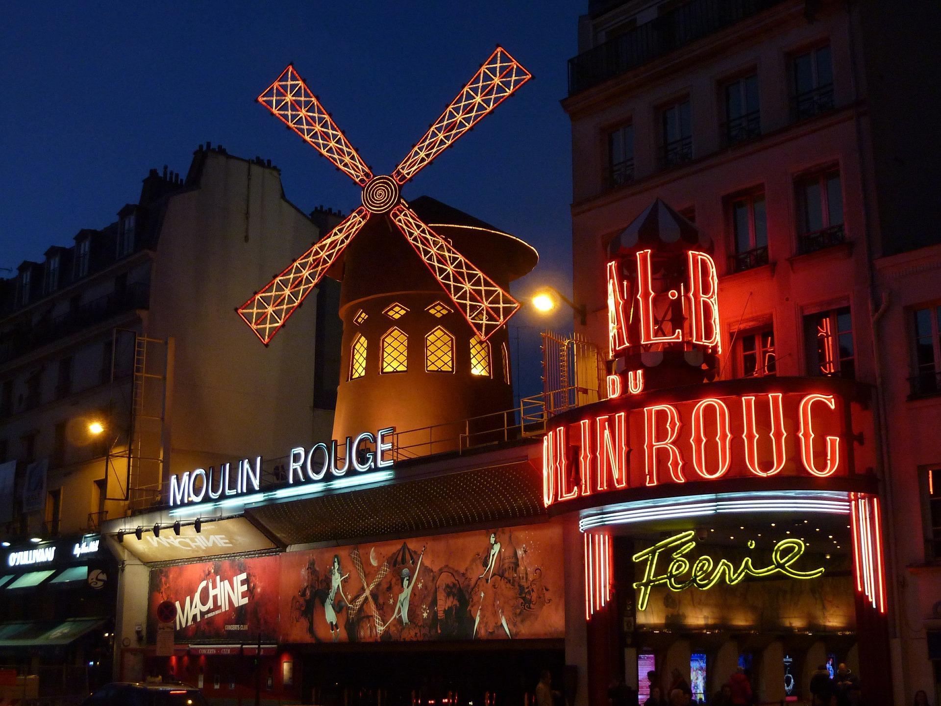 O Moulin Rouge - cidades mais fotografadas do mundo