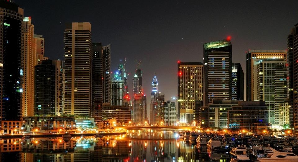 Noite baladas pontos de interesse em Dubai