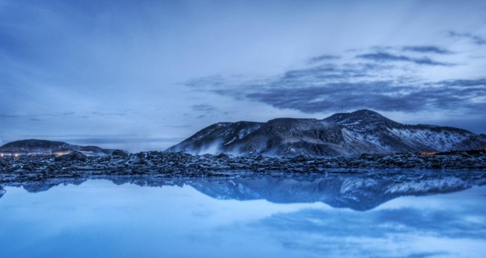 Lagoa azul turismo na Islândia