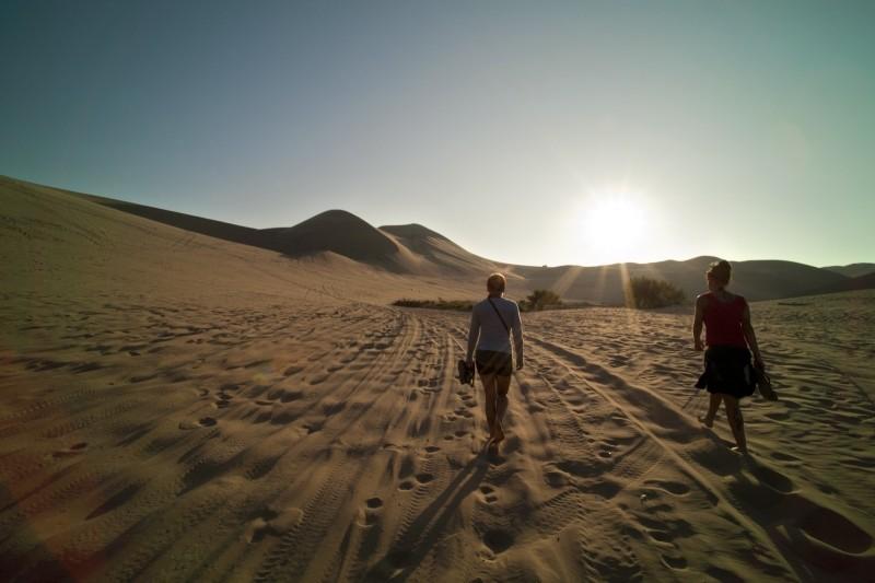 onde praticar trekking no Brasil e na areia