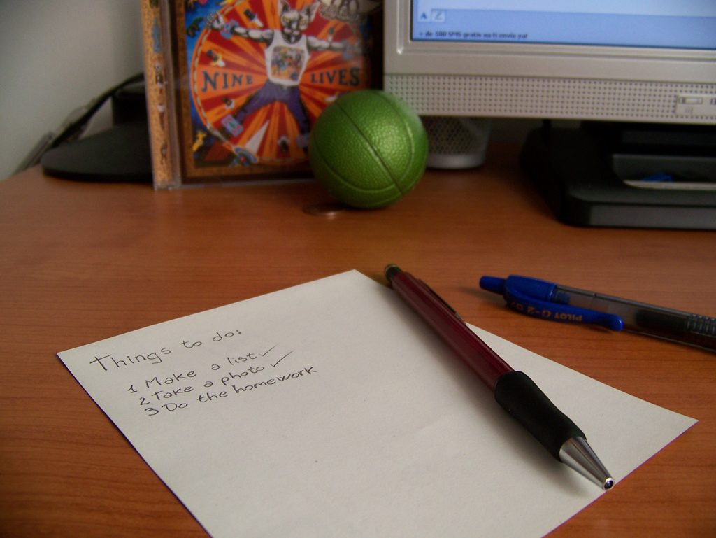 Lista de prioridades fazer dia ser produtivo