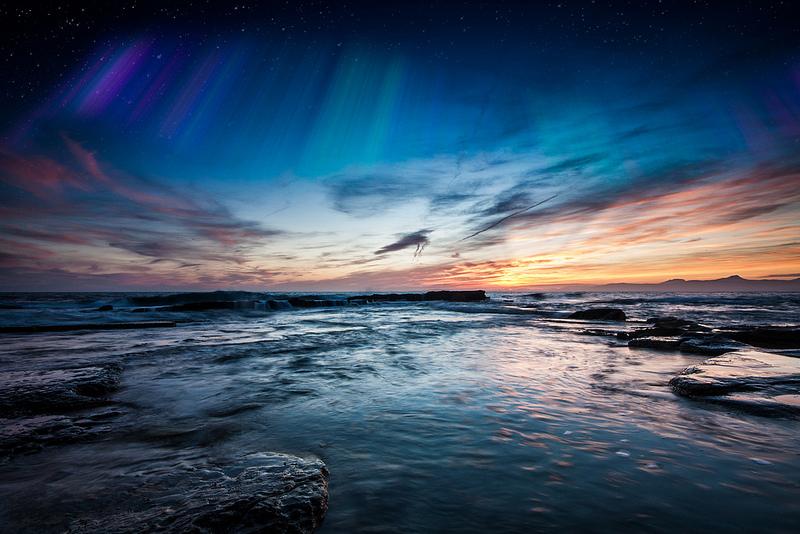 escócia céu inverno a aurora