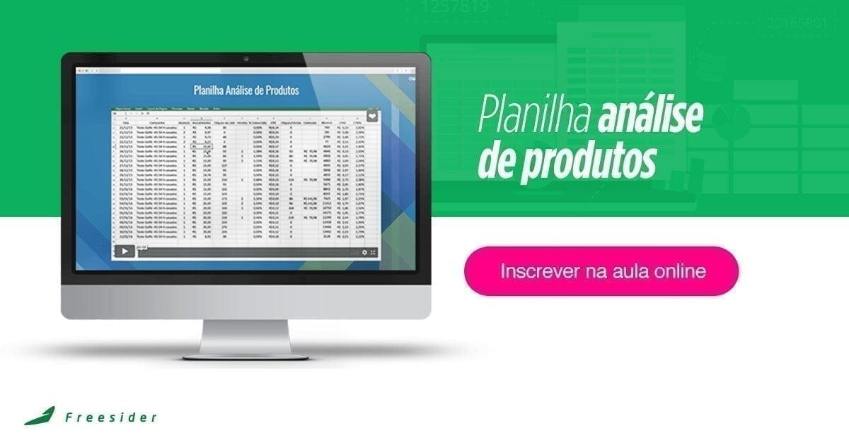 [Aula Online] Planilha Análise de Produtos