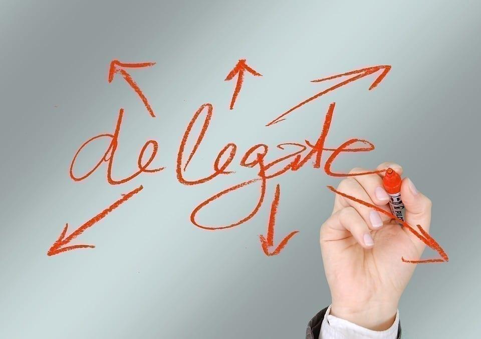 delegue para melhorar a organização do tempo