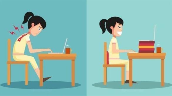 Como melhorar a postura corporal no trabalho e ser mais produtivo D