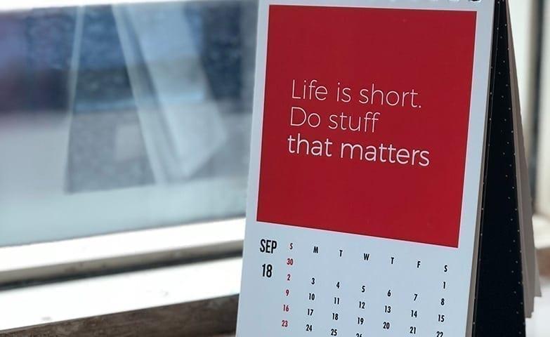 A vida é curta
