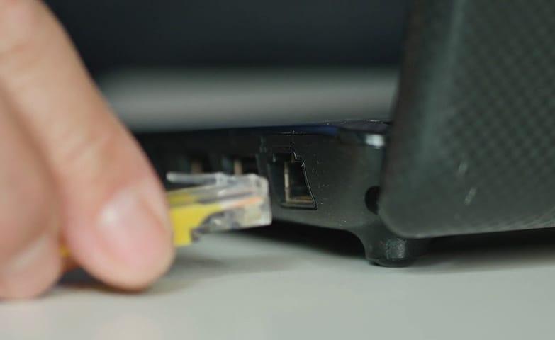 O computador está conectado à internet