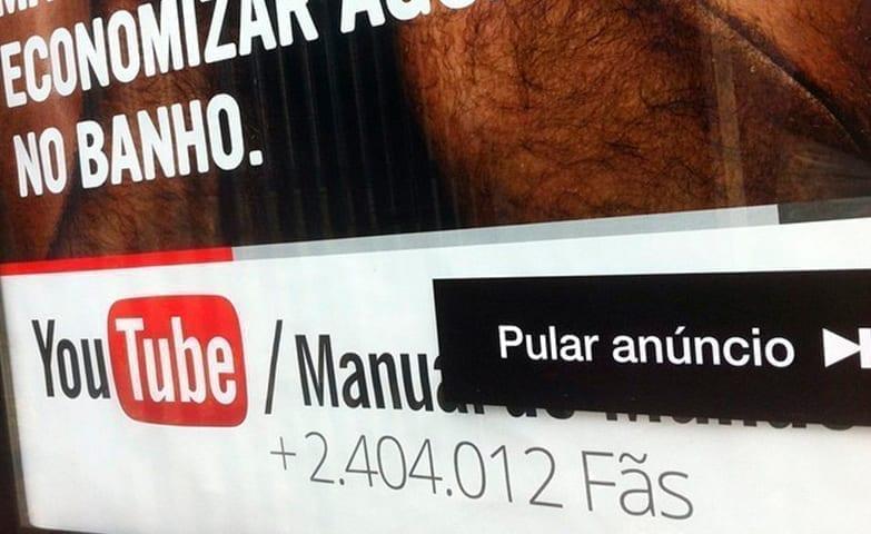 Anúncios no youtube e aê?