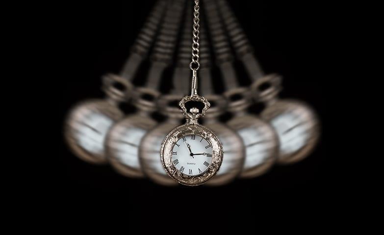 Relógio típico usado para fazer hipnose