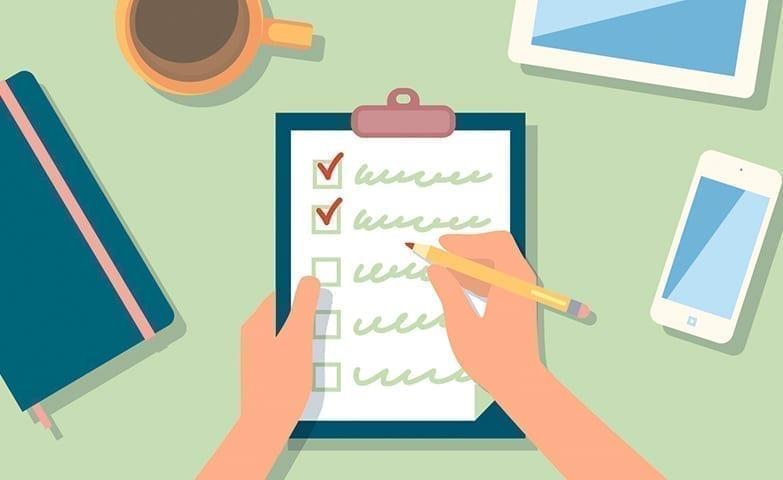 Lista para organizar as tarefas e ser mais produtivo
