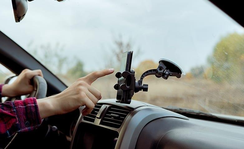 Exemplo de carro direcionado para trabalhar com carona
