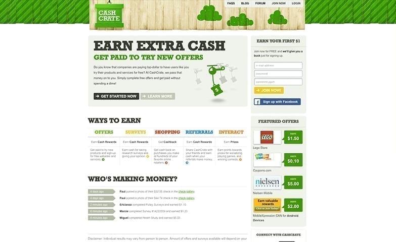 Página destinada ao teste de novos produtos em troca de remuneração