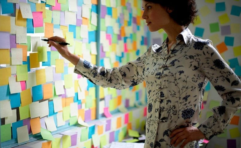 Mulher organizando a agenda para ter mais produtividade durante o dia