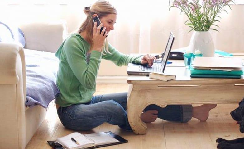 Trabalhando em casa para começar a ter uma renda extra