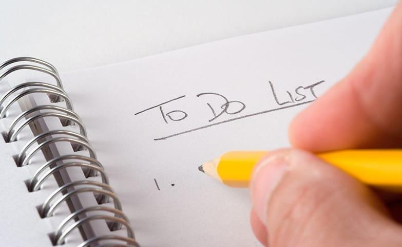 Crie um checklist para facilitar o seu dia e organizar suas tarefas